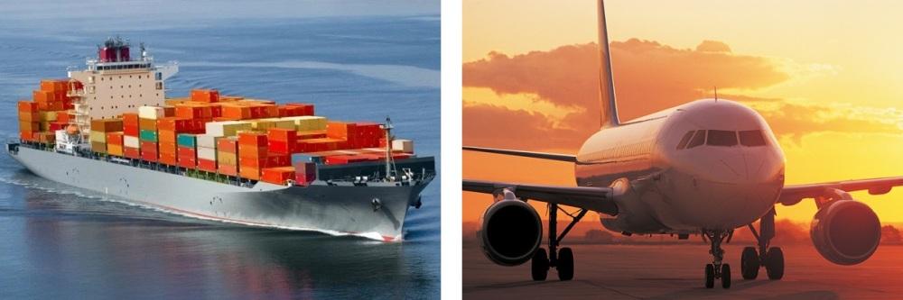 Plane and Ship